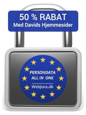 50 rabat hos Webjura.dk med Davids Hjemmesider